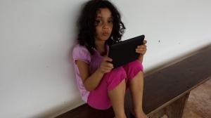Camila Daya watching Boonie Bears